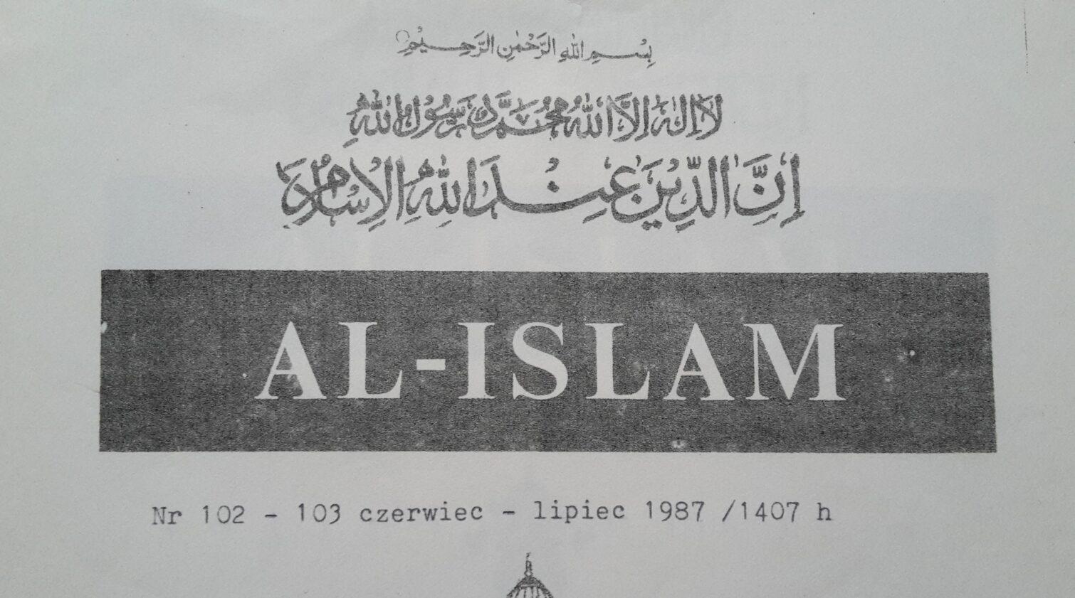 Archiwalna okładka magazynu Al-Islam z roku 1987